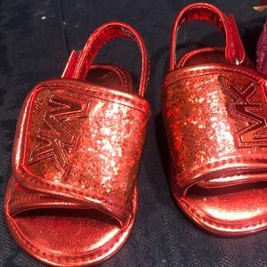 Micheal Kors Sandles For Baby Red